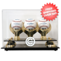 Display Cases, Baseball: Chicago Cubs 3-Ball Golden Classic Baseball Display Case