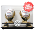 Display Cases, Baseball: Chicago Cubs 4-Ball Golden Classic Baseball Display Case