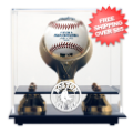 Display Cases, Baseball: Boston Red Sox Single Ball Golden Classic Display Case