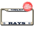 Car Accessories, License Plates: Tampa Bay Rays CHROME License Plate Frame