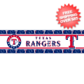 Home Accessories, Bed and Bath: Texas Rangers Wallpaper Border <B>1 Left</B>