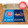Home Accessories, Bed and Bath: Chicago Cubs/St Louis Cardinals Floor Mat