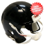 Bulk Mini Speed Football Helmet SHELL Black Qty 24