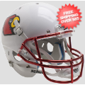 Helmets, Mini Helmets: Louisville Cardinals Mini XP Authentic Helmet Schutt <B>Chrome Mask</B>
