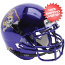 East Carolina Pirates Authentic College XP Football Helmet Schutt <B>Chrome</B>